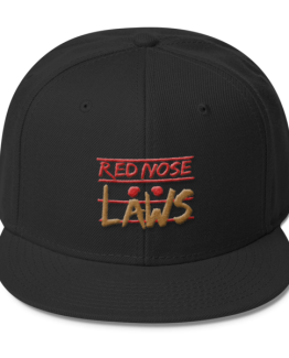 Red Nose Laws Wool Blend Snapback Black Cap