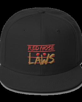 Red Nose Laws Wool Blend Snapback Black Cap