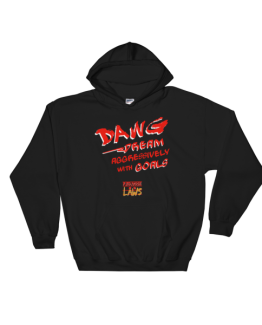 D.A.W.G. Hooded Sweatshirt – Red and White