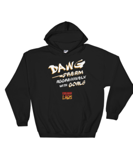 DA.W.G. White on Gold Hooded Sweatshirt